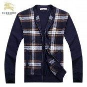 Gilet Burberry Homme Col montant Manches Longue Gris Europe