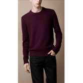 Pull Burberry Homme Col rond Rouge Pures Couleurs Magasin Paris