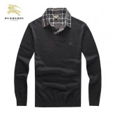 Pull Burberry Homme Manches Longue Col V Pas Cher France