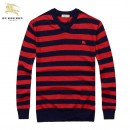 Pull Burberry Homme Multicolor Col V Vente Pas Cher