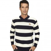 Pull Burberry Homme Multicolor Col V France Pas Cher