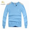Pull Burberry Homme Bleu Manches Longue Col V Magasin