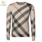 Pull Burberry Homme Col rond Noir Carree Prix