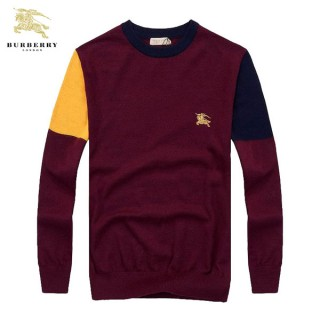 Pull Burberry Homme Col rond Pures Couleurs Destock