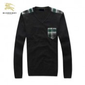 Pull Burberry Homme Col V Noir Pures Couleurs Europe