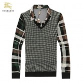 Pull Burberry Homme Marron Solde