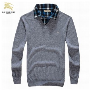 Pull Burberry Homme Pures Couleurs Col V Manches Longue Achat Pas Cher