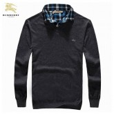 Pull Burberry Homme Pures Couleurs Manches Longue Col V France Pas Cher