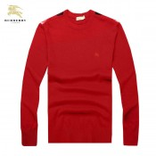 Pull Burberry Homme Rouge Pures Couleurs Soldes