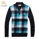 Pull Burberry Homme Col montant Manches Longue Multicolor Pas Cher Fr