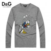 Pull D et G Homme Col rond Gris Manches Longue Europe