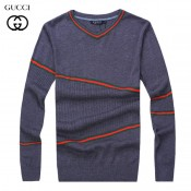 2017 Pull Gucci Homme Gris Multicolor Col V Manches Longue Achat Pas Cher