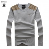 Pull Gucci Homme Gris Manches Longue Carree Nouvelle Collection