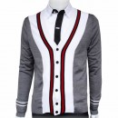 Gilet Gucci Homme Col V Manches Longue Multicolor Outlet