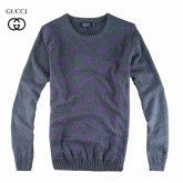 Pull Gucci Homme Carree Gris Col rond Outlet France