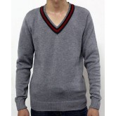 Pull Gucci Homme Col V Gris Pures Couleurs Outlet Paris