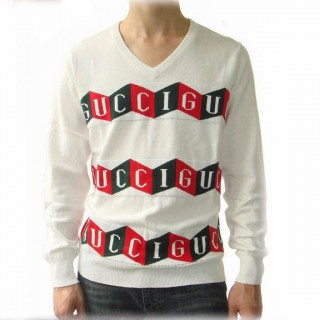 Pull Gucci Homme Manches Longue Blanc Logos Magasin Paris