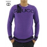 Pull Gucci Homme Manches Longue Col rond Pourpre Boutique