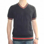 Pull Gucci Homme Noir Col V Marque Pas Cher