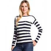 Pull Lacoste Femme Col rond Manches Longue Blanc Outlet