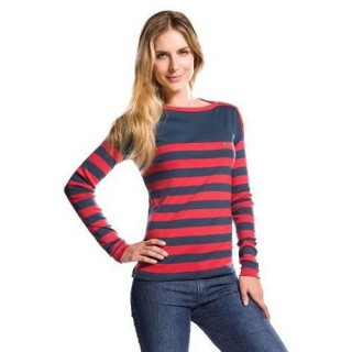 Pull Lacoste Femme Manches Longue Noir Rayures Outlet France
