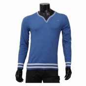Pull Lacoste Homme Bleu Pures Couleurs Col V Manches Longue Magasin Lille