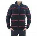 Gilet Lacoste Homme Col montant Rayures Pas CheRe