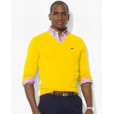 Pull Lacoste Homme Col V Pures Couleurs Outlet Online