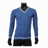 Pull Lacoste Homme Pures Couleurs Col V Outlet