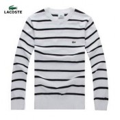 Pull Lacoste Homme Rayures Manches Longue Col rond Moins Cher