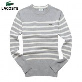Pull Lacoste Homme Col rond Gris Multicolor Magasin France