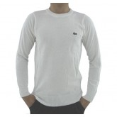 Pull Lacoste Homme Col rond Manches Longue Blanc Pures Couleurs Boutique Lille