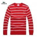 Pull Lacoste Homme Col rond Manches Longue Multicolor Destockage