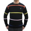 Pull Lacoste Homme Col rond Rayures Vente Pas Cher