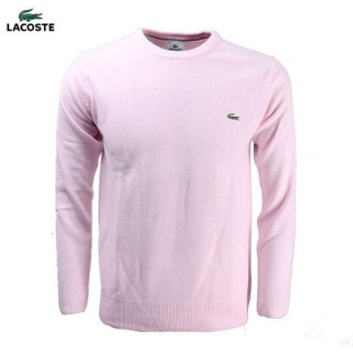Pull Lacoste Homme Col rond Rose Boutique Pas Cher