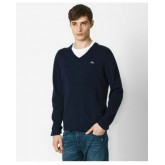 Pull Lacoste Homme Col V Manches Longue Pures Couleurs Soldes