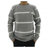 Pull Lacoste Homme Gris Rayures Moins Cher