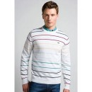 Pull Lacoste Homme Manches Longue Col rond Blanc Prix