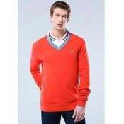 Pull Lacoste Homme Manches Longue Col V En Soldes