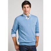 Pull Lacoste Homme Manches Longue Col V Pures Couleurs Europe