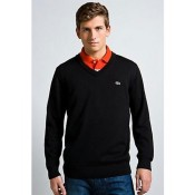 Pull Lacoste Homme Manches Longue Col V Pures Couleurs Acheter
