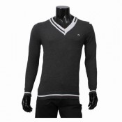 Pull Lacoste Homme Pures Couleurs Col V Destockage