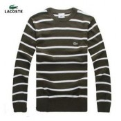 Pull Lacoste Homme Rayures Manches Longue Solde
