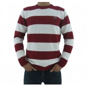 Pull Lacoste Homme Rouge Rayures Pas Chere