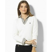 Pull Polo Femme Blanc Moins Cher