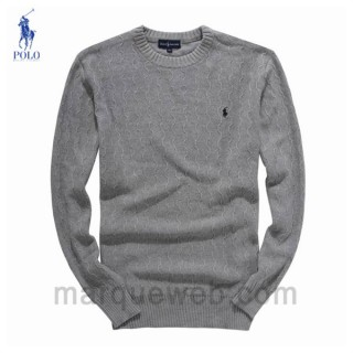 2017 Pull Polo Homme Gris Magasin D Usine