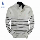 2017 Pull Polo Homme Rayures Manches Longue En Solde