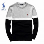 2017 Pull Polo Homme Col rond Noir En Soldes