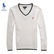 2017 Pull Polo Homme Pures Couleurs Col V Manches Longue Blanc Outlet Paris