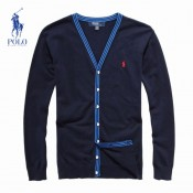Gilet Polo Homme Bleu Manches Longue Magasin France